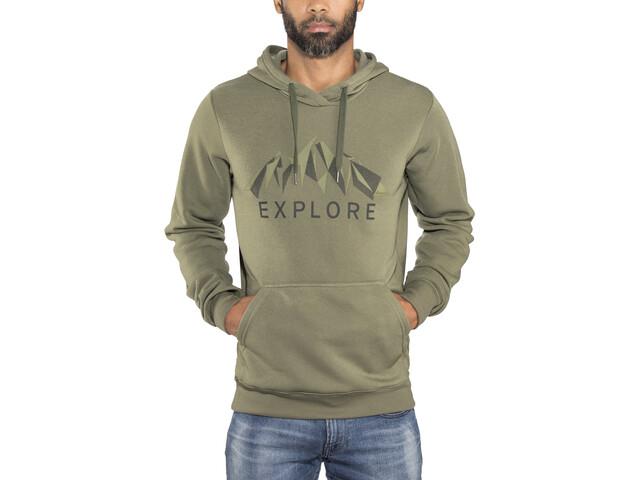 Bergans Exp*** Hoodie Herren seaweed melange/khaki green/solid charcoal